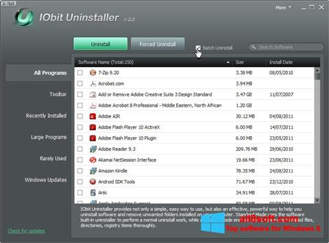 스크린 샷 IObit Uninstaller Windows 8
