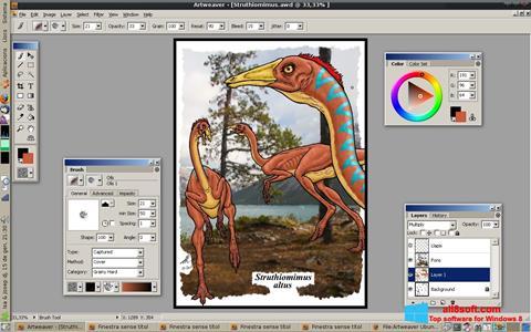 스크린 샷 Artweaver Windows 8