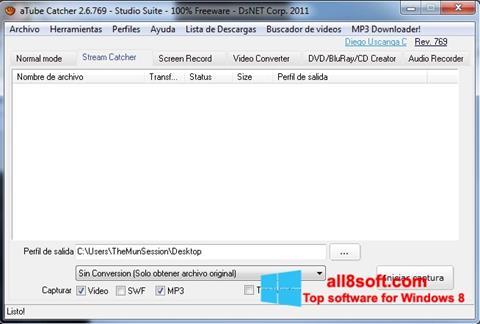 스크린 샷 aTube Catcher Windows 8