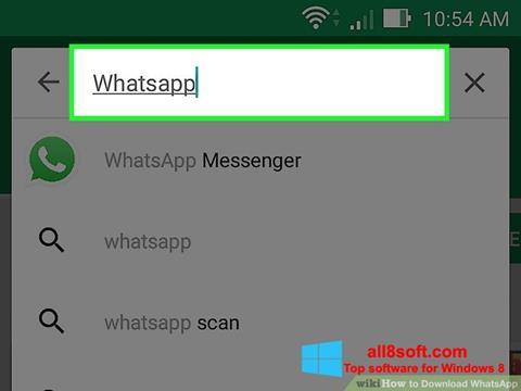 스크린 샷 WhatsApp Windows 8