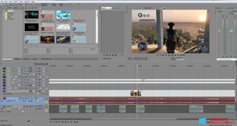 스크린 샷 Sony Vegas Pro Windows 8