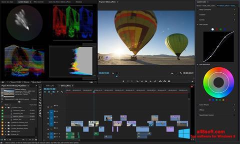 스크린 샷 Adobe Premiere Pro Windows 8