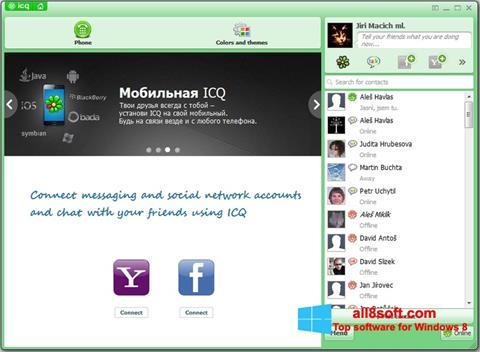 스크린 샷 ICQ Windows 8