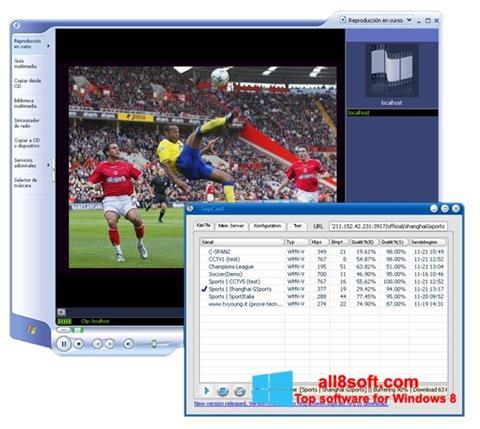 스크린 샷 SopCast Windows 8