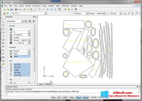 스크린 샷 DraftSight Windows 8