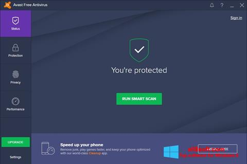 스크린 샷 Avast Free Antivirus Windows 8