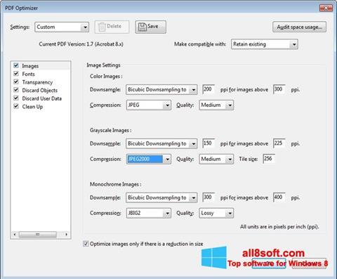 스크린 샷 Adobe Acrobat Pro DC Windows 8