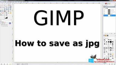 스크린 샷 GIMP Windows 8