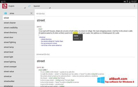 스크린 샷 ABBYY Lingvo Windows 8