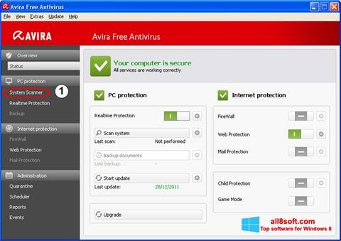 스크린 샷 Avira Windows 8