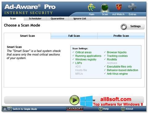 스크린 샷 Ad-Aware Windows 8